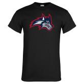 Black T Shirt-Wolfie Head