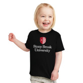 Toddler Black T Shirt-University Mark Vertical