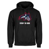 Black Fleece Hoodie-Wolfie Head and Stony Brook