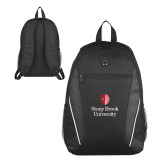 Atlas Black Computer Backpack-University Mark Vertical