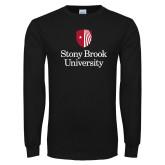 Black Long Sleeve T Shirt-University Mark Vertical