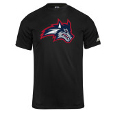 Russell Core Performance Black Tee-Wolfie Head