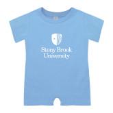 Light Blue Infant Romper-University Mark Vertical