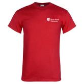 Red T Shirt-University Mark Stacked