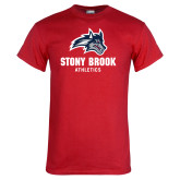 Red T Shirt-Wolfie Head and Stony Brook Athletics