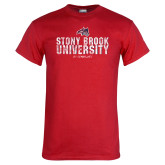 Red T Shirt-Stacked Distressed