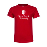 Youth Red T Shirt-University Mark Vertical