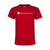 Youth Red T Shirt-University Mark Horizontal