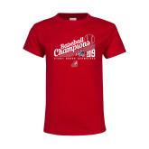 Youth Red T Shirt-2019 Baseball Champions
