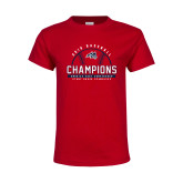 Youth Red T Shirt-2019 America East Baseball Champions