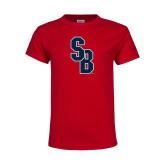 Youth Red T Shirt-Interlocking SB