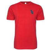 Next Level SoftStyle Red T Shirt-Interlocking SB