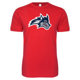 Next Level SoftStyle Red T Shirt-Wolfie Head