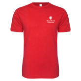 Next Level SoftStyle Red T Shirt-University Mark Vertical
