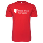 Next Level SoftStyle Red T Shirt-University Mark Stacked