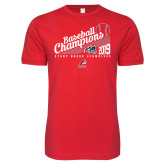 Next Level SoftStyle Red T Shirt-2019 Baseball Champions