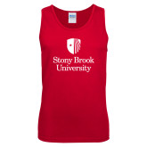 Red Tank Top-University Mark Vertical