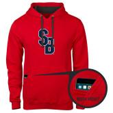 Contemporary Sofspun Red Hoodie-Interlocking SB