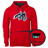 Contemporary Sofspun Red Hoodie-Wolfie Head