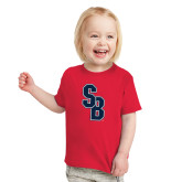Toddler Red T Shirt-Interlocking SB