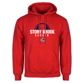 Red Fleece Hoodie-Soccer Stacked