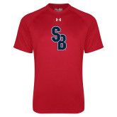 Under Armour Red Tech Tee-Interlocking SB
