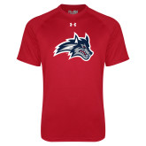 Under Armour Red Tech Tee-Wolfie Head