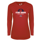 Ladies Syntrel Performance Red Longsleeve Shirt-Soccer Stacked