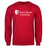 Red Fleece Crew-University Mark Stacked