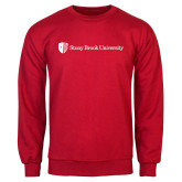 Red Fleece Crew-University Mark Horizontal