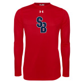 Under Armour Red Long Sleeve Tech Tee-Interlocking SB