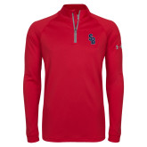 Under Armour Red Tech 1/4 Zip Performance Shirt-Interlocking SB