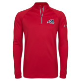 Under Armour Red Tech 1/4 Zip Performance Shirt-Wolfie Head