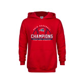 Youth Red Fleece Hoodie-2019 America East Baseball Champions