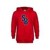 Youth Red Fleece Hoodie-Interlocking SB