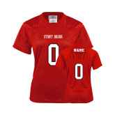 Ladies Red Replica Football Jersey-Personalized