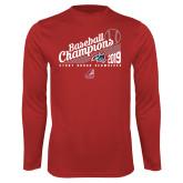 Performance Red Longsleeve Shirt-2019 Baseball Champions