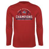 Performance Red Longsleeve Shirt-2019 America East Baseball Champions