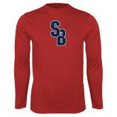 Performance Red Longsleeve Shirt-Interlocking SB