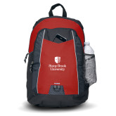 Impulse Red Backpack-University Mark Vertical
