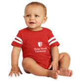 Vintage Red Jersey Onesie-University Mark Vertical