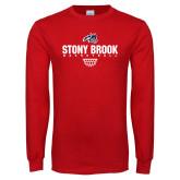 Red Long Sleeve T Shirt-Basketball Sharp Net