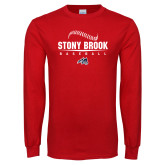 Red Long Sleeve T Shirt-Baseball Seams