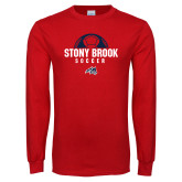 Red Long Sleeve T Shirt-Soccer Stacked