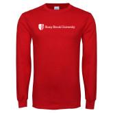 Red Long Sleeve T Shirt-University Mark Horizontal
