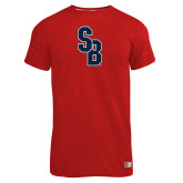Russell Red Essential T Shirt-Interlocking SB