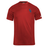 Russell Core Performance Red Tee-Interlocking SB