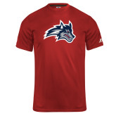 Russell Core Performance Red Tee-Wolfie Head