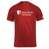 Russell Core Performance Red Tee-University Mark Stacked