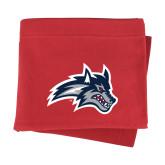 Red Sweatshirt Blanket-Wolfie Head